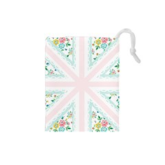 Frame Flower Floral Sunflower Line Drawstring Pouches (Small)