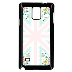 Frame Flower Floral Sunflower Line Samsung Galaxy Note 4 Case (Black)