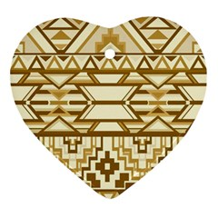 Geometric Seamless Aztec Gold Ornament (Heart)