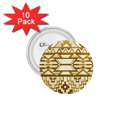 Geometric Seamless Aztec Gold 1.75  Buttons (10 pack)