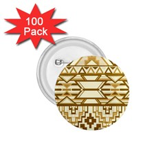 Geometric Seamless Aztec Gold 1.75  Buttons (100 pack)