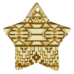 Geometric Seamless Aztec Gold Star Ornament (Two Sides)
