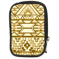 Geometric Seamless Aztec Gold Compact Camera Cases