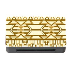 Geometric Seamless Aztec Gold Memory Card Reader with CF