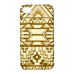 Geometric Seamless Aztec Gold Apple iPhone 4/4S Hardshell Case with Stand