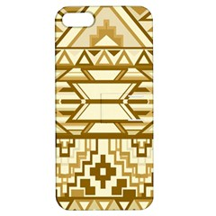 Geometric Seamless Aztec Gold Apple iPhone 5 Hardshell Case with Stand