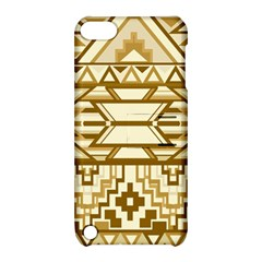 Geometric Seamless Aztec Gold Apple iPod Touch 5 Hardshell Case with Stand