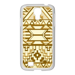 Geometric Seamless Aztec Gold Samsung GALAXY S4 I9500/ I9505 Case (White)