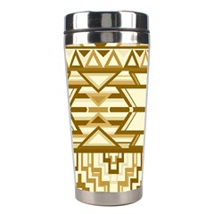 Geometric Seamless Aztec Gold Stainless Steel Travel Tumblers