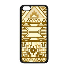 Geometric Seamless Aztec Gold Apple iPhone 5C Seamless Case (Black)