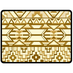 Geometric Seamless Aztec Gold Double Sided Fleece Blanket (large)