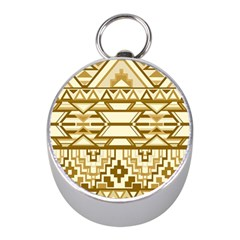 Geometric Seamless Aztec Gold Mini Silver Compasses