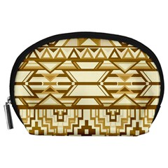 Geometric Seamless Aztec Gold Accessory Pouches (Large)