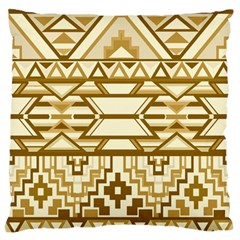 Geometric Seamless Aztec Gold Large Flano Cushion Case (One Side)