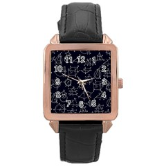 Geometry Geometry Formula Rose Gold Leather Watch