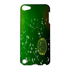 Geometric Shapes Letters Cubes Green Blue Apple iPod Touch 5 Hardshell Case
