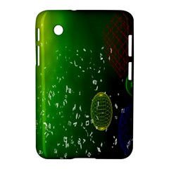 Geometric Shapes Letters Cubes Green Blue Samsung Galaxy Tab 2 (7 ) P3100 Hardshell Case
