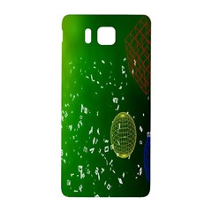 Geometric Shapes Letters Cubes Green Blue Samsung Galaxy Alpha Hardshell Back Case