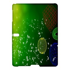 Geometric Shapes Letters Cubes Green Blue Samsung Galaxy Tab S (10.5 ) Hardshell Case
