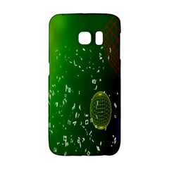 Geometric Shapes Letters Cubes Green Blue Galaxy S6 Edge