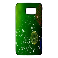 Geometric Shapes Letters Cubes Green Blue Galaxy S6