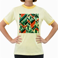 German Synth Stock Music Plaid Women s Fitted Ringer T-Shirts