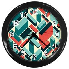 German Synth Stock Music Plaid Wall Clocks (Black)