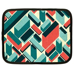 German Synth Stock Music Plaid Netbook Case (Large)