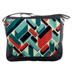 German Synth Stock Music Plaid Messenger Bags
