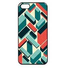 German Synth Stock Music Plaid Apple iPhone 5 Seamless Case (Black)