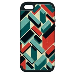 German Synth Stock Music Plaid Apple iPhone 5 Hardshell Case (PC+Silicone)