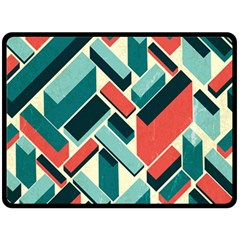 German Synth Stock Music Plaid Double Sided Fleece Blanket (Large)