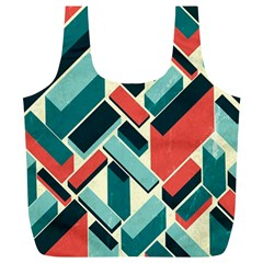 German Synth Stock Music Plaid Full Print Recycle Bags (L)
