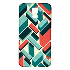 German Synth Stock Music Plaid Samsung Galaxy S5 Back Case (White)