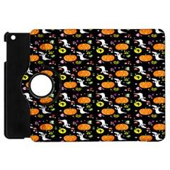 Ghost Pumkin Craft Halloween Hearts Apple iPad Mini Flip 360 Case