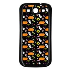 Ghost Pumkin Craft Halloween Hearts Samsung Galaxy S3 Back Case (Black)