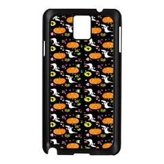 Ghost Pumkin Craft Halloween Hearts Samsung Galaxy Note 3 N9005 Case (Black)