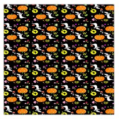 Ghost Pumkin Craft Halloween Hearts Large Satin Scarf (Square)