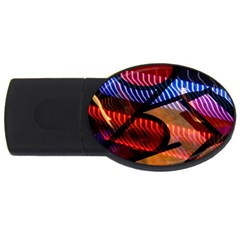 Graphic Shapes Experimental Rainbow Color USB Flash Drive Oval (4 GB)