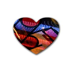 Graphic Shapes Experimental Rainbow Color Heart Coaster (4 pack)