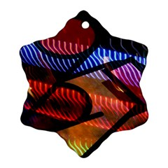 Graphic Shapes Experimental Rainbow Color Snowflake Ornament (Two Sides)