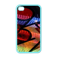 Graphic Shapes Experimental Rainbow Color Apple iPhone 4 Case (Color)