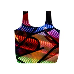 Graphic Shapes Experimental Rainbow Color Full Print Recycle Bags (S)