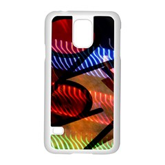 Graphic Shapes Experimental Rainbow Color Samsung Galaxy S5 Case (white)