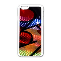 Graphic Shapes Experimental Rainbow Color Apple iPhone 6/6S White Enamel Case