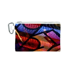 Graphic Shapes Experimental Rainbow Color Canvas Cosmetic Bag (S)