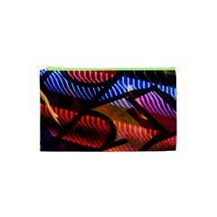 Graphic Shapes Experimental Rainbow Color Cosmetic Bag (XS)