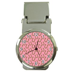 Horse Shoes Iron Pink Brown Money Clip Watches