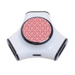 Horse Shoes Iron Pink Brown 3-Port USB Hub