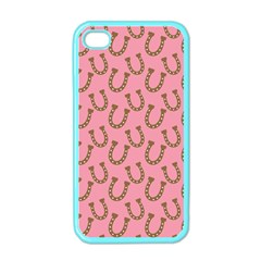 Horse Shoes Iron Pink Brown Apple iPhone 4 Case (Color)